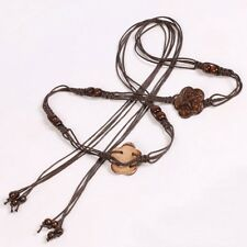 Coconut Shell Belt Tied Handmade Wood Bead Women Waist Hip Boho Style Handicraft