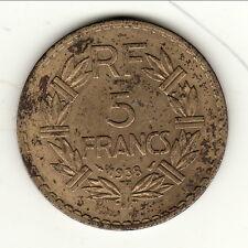 RARE 5 FRANCS RF ALU 1938   COTE 50 EURO