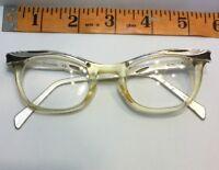Vintage Cat Eye American Optical Rockabilly Aluminum Eyeglasses 5 1/4