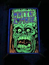 "Vintage 1993 White Zombie Green Monster Blacklight Poster 23 x35"" Original!"