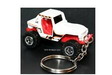 Custom Key Chain Jeep CJ 4X4 Rock Crawler white