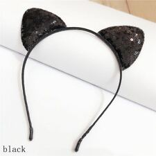 Hot Sequins Cat Ear Headband Hair Band Costume Party Cosplay Hair Accessories
