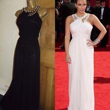 GORGEOUS ❤️ JANE NORMAN Kim Kardashian Black Long Grecian Ball Dress Size 10 12