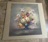 Vintage MORRIS & BENDIEN NY Litho Floral Roses