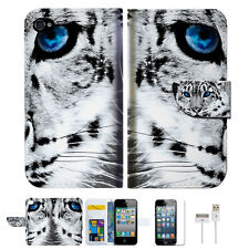 Leopard Wallet Case Cover For Apple iPhone 4 4S -- A013