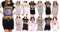 Womans Vintage Rock Born To Fly Long T Shirt Mini Dress Party Holiday TShirt Top