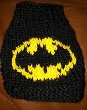 Batman logo 4 ins xs teacup chihuahua sweater jumper Hand knit Kitten puppy