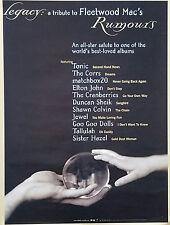 Fleetwood Mac 1998 Legacy Tribute Promo Poster Original