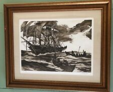 Boats Away Signed By Jack Coughlin 1977 Whaling Framed Ltd Ed