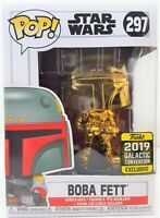 Funko Pop Boba Fett Gold # 297 Star Wars Galactic Convention 2019 Bobble Head