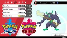 Pokemon Sword and Shield Legit Lv.10 Dynamax 6IV Battle Ready Grimmsnarl Sp.ATK
