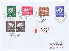 SCHWEIZ, Internationale Organisationen UNO, Mi 22,23,26,28,30 auf R-Brief 1969