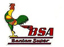 BSA BANTAM SUPER Vinyl DECAL STICKER NORTON TRIUMPH MOTORCYCLE WORKSHOP ARIEL !