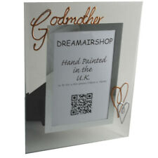 Godmother Christening Gift Picture Photo Frame: Portrait with Crystals (Copper)