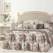 Rosewood Skirted Bedspread | Gainsborough | Fitted style | Classic Floral Print