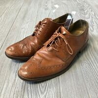 Cole Haan Grand OS Brown Leather Wingtip Oxford Dress Shoes Men's 11 S5