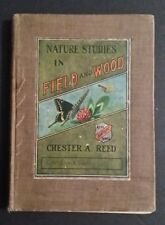 1st Edition NATURE STUDIES In FIELD and WOOD Chester Reed - 1911 - Color Prints