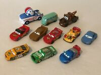 Disney Pixar Cars Movie Diecast Mattel Lot of 11 Vehicles Toys Lightning McQueen