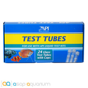 API Glass Test Tubes with Plastic Caps 24 count for all API Liquid Test Kits