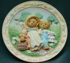 Cherished Teddies: Jack And Jill Wall Plaque- Friendship Never Tumble