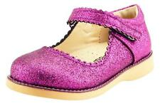 Girl's Party Dress Classic Mary Jane Shoes Glitter Purple Color Toddler size
