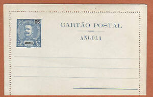 v182 | Angola, around 1900, item of 65 reis mint postal stationery, nice cond.