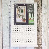 50cm Metal Wall Mounted Peg Storage Memo Magnetic Board Office Kitchen Key Rack