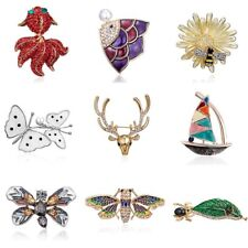 Fashion Crystal Insects Butterfly Bee Spider Brooch Pin Women Costume Jewelry