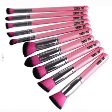 Professional Pink Makeup Set Pro Kits Brushes Kabuki Makeup Cosmetics Brush Tool
