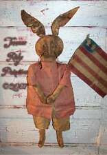 Americana Rabbit Doll n Flag Pattern