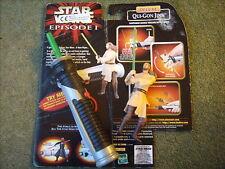 STAR WARS Episode 1 Qui Gon Jinn action Model Lightsaber instruction card sabre