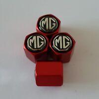MG BLACK Wheel Valve Dust caps all models 4 COLOURS all cars Bikes MATTE RED