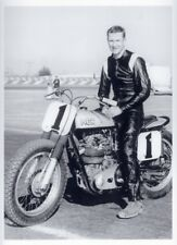 "Dick Mann 1963 Matchless G50 dirt flat track race bike 9"" X 12"" quality print"