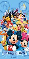 "Disney All characters 100% Cotton Beach Towel 30"" x 60"""