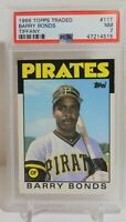 1986 Topps Traded Tiffany Barry Bonds ROOKIE Pittsburgh Pirates #11T PSA 7