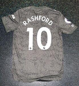 Match Worn Issued adidas Manchester United Football Shirt - Marcus Rashford