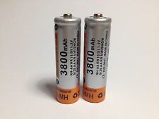 2 x AA 3800 mAh Baterías Recargables 1.2v Bateria Pilas NH AA NiMh battery