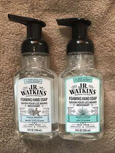 2 J.R. Watkins Foaming Hand Soap 1.9oz Ocean Breeze 1.9oz Agave Water