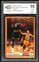 1993 Classic National Convention Promo Chris Webber Card BGS BCCG 10 Mint+