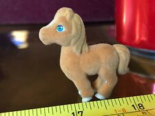 Pony nella mia tasca Carino Marrone Scuro Cavallo Pony Jumping Giocattolo animale peloso pelliccia MINI