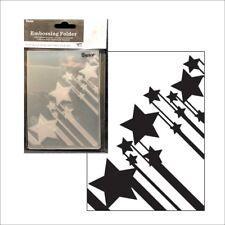 Shooting Stars embossing folder Darice embossing folders border Frame