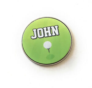 Personalised Golf Ball Marker Gift - Made From Metal Choice Of Design