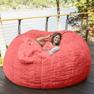 7ft Indoor Foam Memory Living Room Giant Bean Bag Lazy Chair Sofa Cover