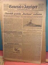 German Newspaper - General Anzeiger - Front page - Jan 28,, 1942 - World War II