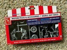 Motorcycles & Accessories Double Dirt Bikes Model Car Kit New sealed 1/25 1970's