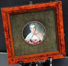 Handmalerei Madame de Pompadour um 1820 signiert Boucher !