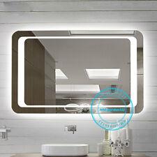 Large 800mm Modern Illuminated LED Lighted Bathroom Mirror Wall Mounted Demister