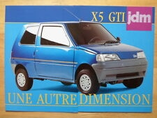 JDM SIMPA X5 GTI rare sans permis microcar brochure 1990