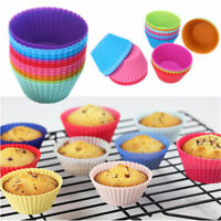 12pcs Round Shape Silicone Muffin Cupcake Mould Chocolate Liner Baking Cup Mold