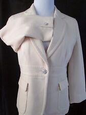 J Crew Suit Blazer 6 Sponged Wool Cream Rhinestone Buttons  Wedding Suiting